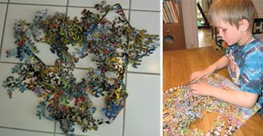 Pieceless Puzzle innan och på gång