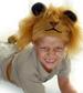 Lejon-mössa och svans från Oskar & Ellen