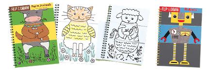 Roliga målarböcker från MudPuppy - bondgård, robotor och monster!