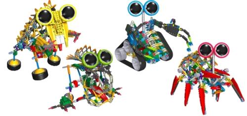 Fyra Knex motobots - byggsatser på ABC Leksaker