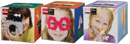 Plus Plus byggbitar i basic, neon och pastel, 600 bitar, på ABC Leksaker