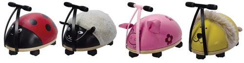 4 olika Ride n Roll gåbilar finns på ABC Leksaker