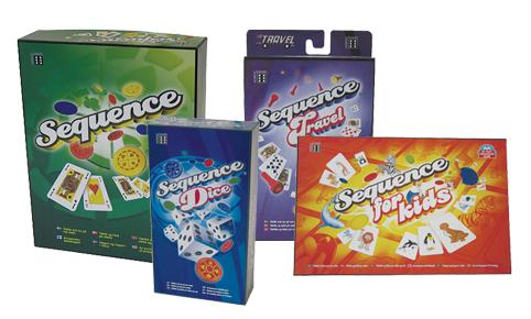 Sequence, Sequence Travel, Sequence Dice och Sequence för Barn på ABC Leksaker