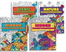 Fyra olika Transformations målarböcker på ABC Leksaker