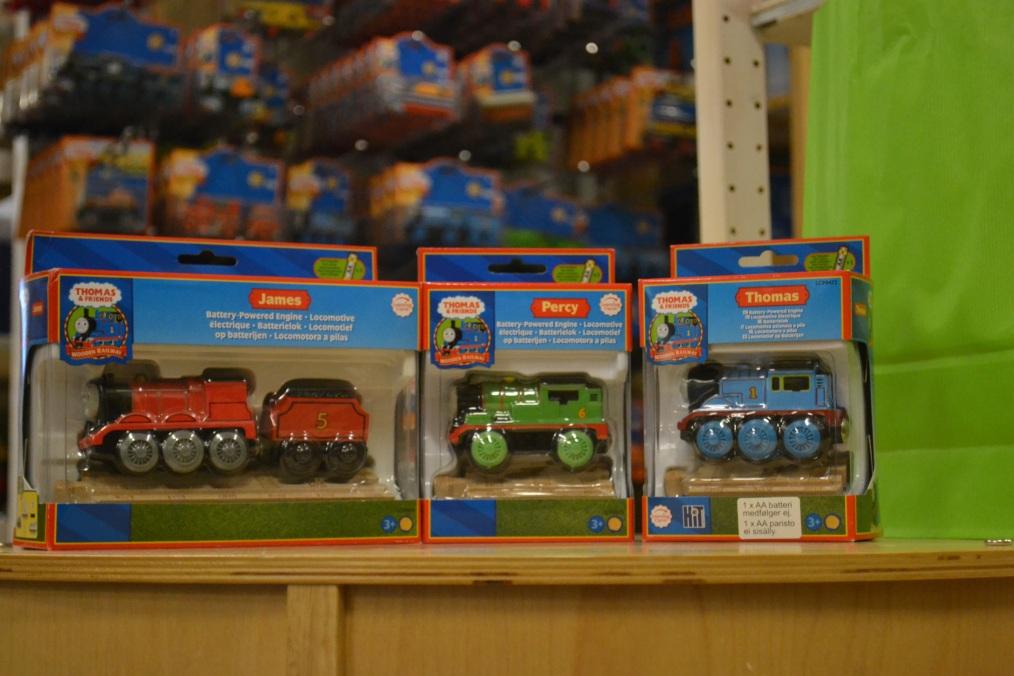 Thomas tåget, James och Percy från Thomas Wooden Railway